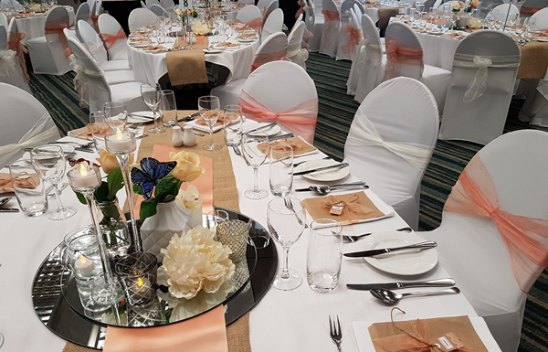 Table settings at an event at Te Papa by Lizz Santos