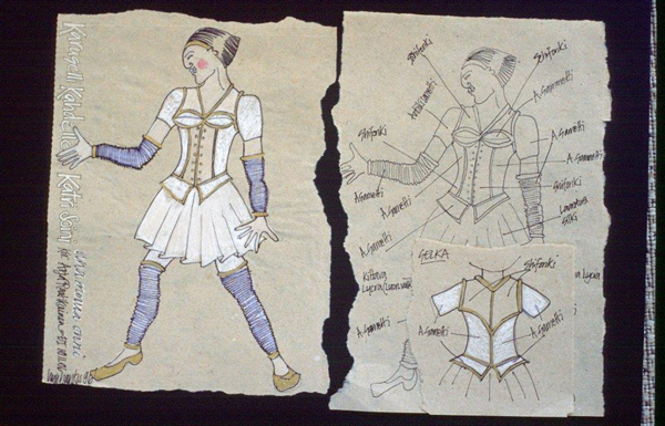 Theatre costume design by Lizz Santos